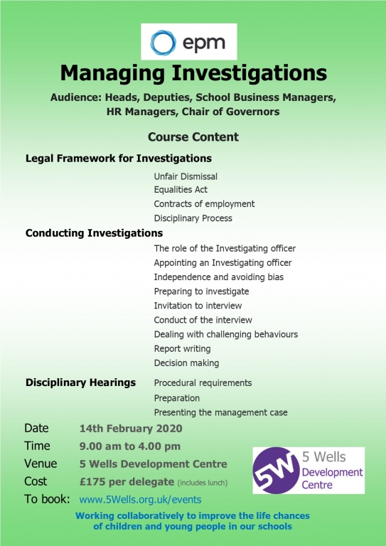EPM1402 Managing Investigations