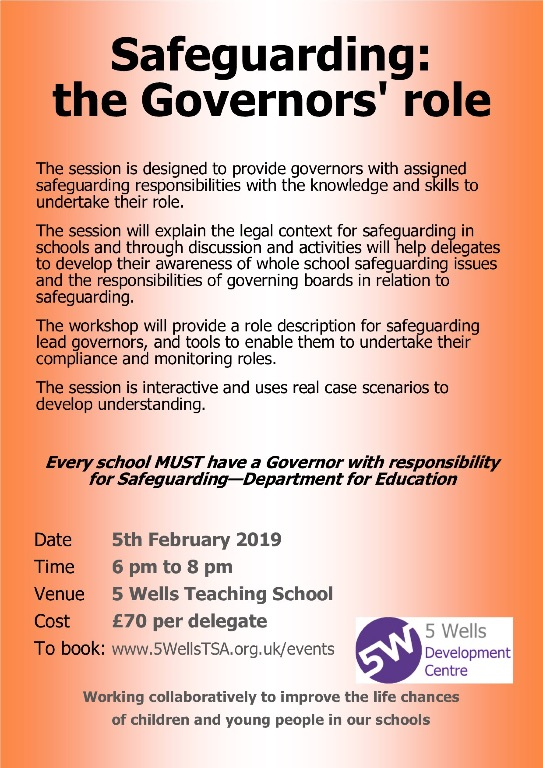 SGG0502 Safeguarding for Governors flier