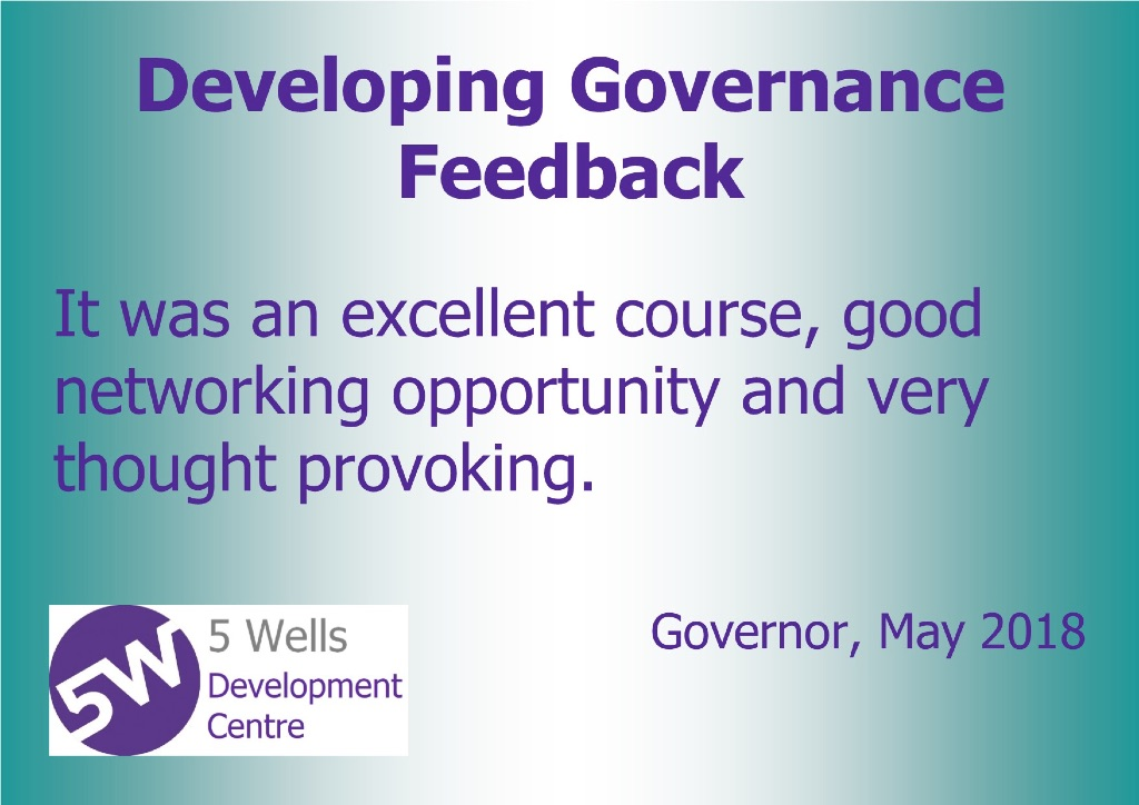 developing governance feedback may 2018